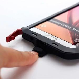 Image 5 - Водонепроницаемый ударопрочный чехол для телефона samsung Galaxy S6 S6edge S7 S7Edge PLUS NOTE4 5 металлический алюминиевый Прочный чехол из закаленного стекла