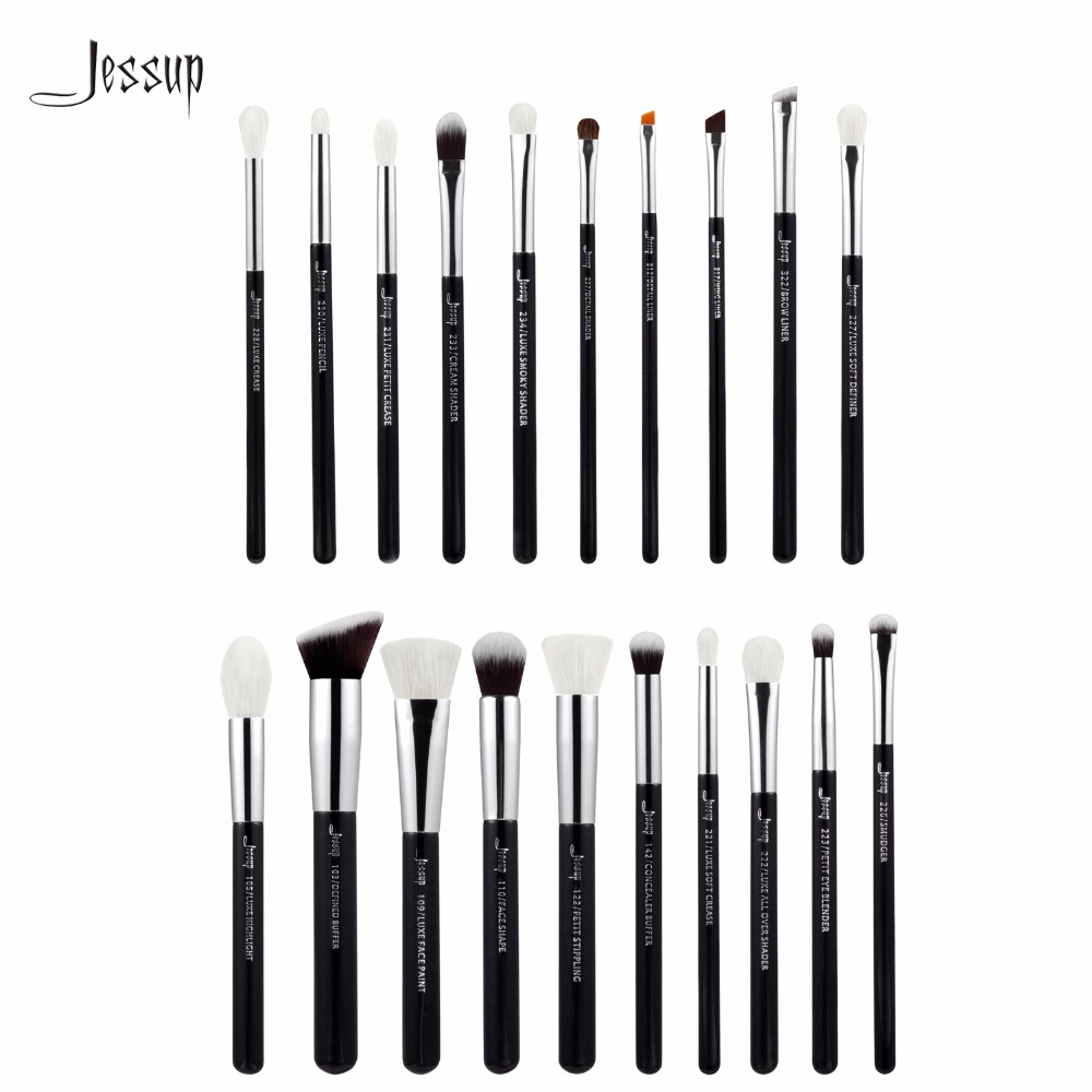 Jessup Brushes 20pcs Professional Makeup Brushes Set Cosmetics Brush Tools kit Foundation Powder Brushes T185 147 pcs portable professional watch repair tool kit set solid hammer spring bar remover watchmaker tools watch adjustment