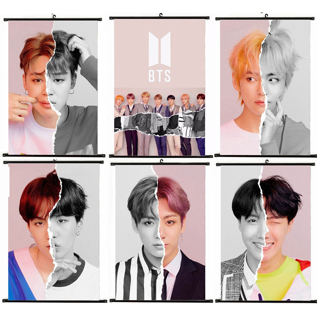 2018 Answer Bt21 Painting Bangtan Boys Wallpaper Wall Sticker New
