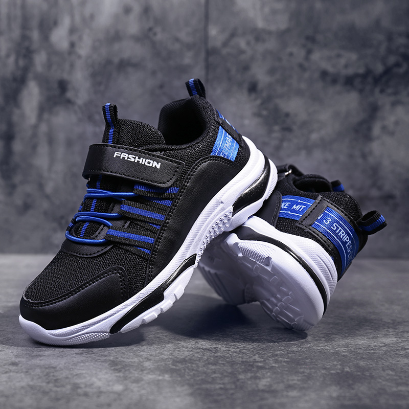 Kids Sport Shoes Boys Breathable Mesh Brand Trainers Comfortable For Anti-Slip Boy Running