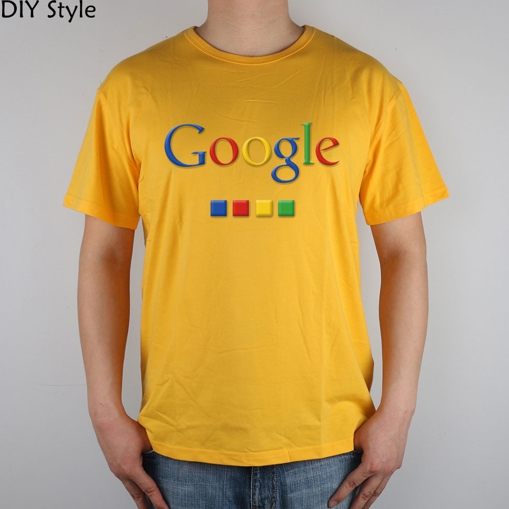 Four-color Google T-shirt cotton Lycra top 4586 Fashion Brand t shirt men new DIY Style high quality 4