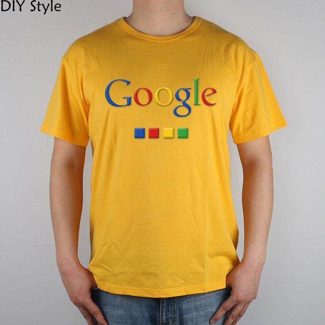 Four-color Google T-shirt cotton Lycra top 4586 Fashion Brand t shirt men new DIY Style high quality 4