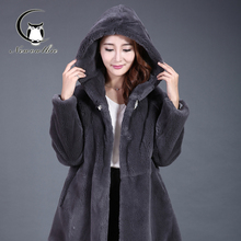 2016 winter new otter hair full-leather jacket in the long section of fur women's fur