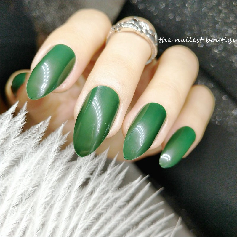 24pcs Detachable Short Pointed False Nails Designs Sharp Dark Green Fake  Nails For Children Clear Stiletto Nail Tips Extension-in False Nails from  Beauty ... - 24pcs Detachable Short Pointed False Nails Designs Sharp Dark Green
