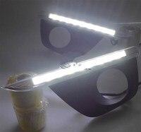 Ücretsiz kargo YENI 9 LED Sis Lambası Gün Işığı 2011-2013 Renault koleos özel DRL gündüz çalışan ışık