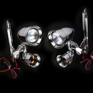 Image 2 - Yeni Krom Fairing Montaj Sürüş Işıkları Füme Dönüş Sinyalleri Harley 96 13 Sokak Glide ve 96  18 Road King FLHR Modelleri