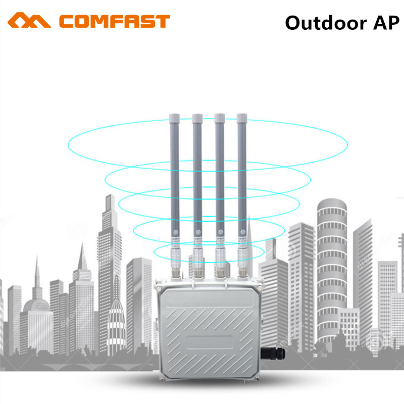 1750Mbps gigabit Ethernet wireless AP 802.11AC wi-fi Access Point AP router with 4*8dBi wifi antenna for outdoor wifi coverage unifi enterprise wifi system ap ubiquiti uap ac lr wireless access point wi fi