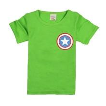 2017 Boys Girls Short Sleeve T Shirts For Children Fashion Captain America Tops 10 Colors Kids Clothing Baby Boys Girls T Shirt