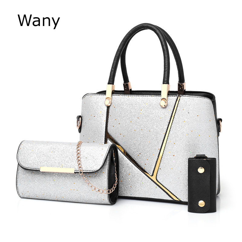 2387787f52 3 Messenger Estate red Shoulder Sacchetto Black set brown Stars Madre 2018  Donne Nuove Composito Pz Borsa Bag Borse Moda silver Femminili HYxdwS7q