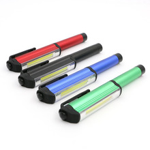 New COB LED Mini Pen cob work flashlight Multifunction LED Magnet COB Inspection work Light Lamp  For Camping Or Indoor Lighting