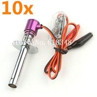 10pcs Lot HSP 80100 6 12V Electric Glow Plug Igniter Upgraded For 1 8 1 10