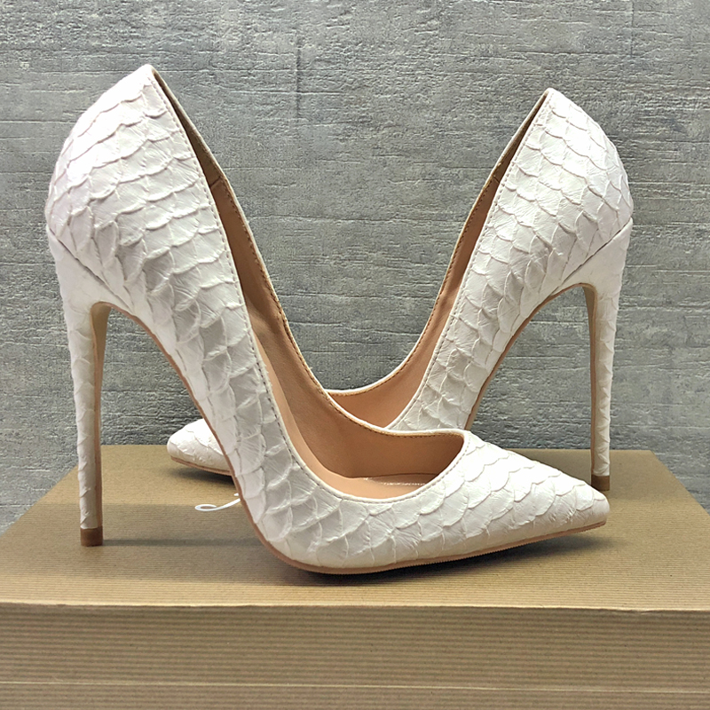 2019 Fashion free shipping Women lady snake white python leather Poined Toe Stiletto high heel pump HIGH-HEELED SHOES Wedding2019 Fashion free shipping Women lady snake white python leather Poined Toe Stiletto high heel pump HIGH-HEELED SHOES Wedding