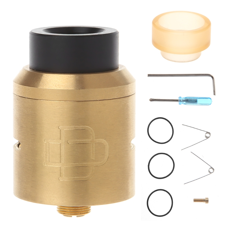 Atomizer Tank For Druga RDA Tank 24mm Dia Clamp Snag System DIY Coil Gold Plated Deck