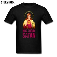 Large Size T Shirt Black Bianca Del Rio Not Today Satan Designer T Shirts Youth Crew Neck Short Sleeve T Shirt 2019 Fashion