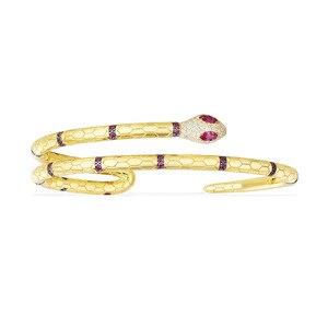 Image 5 - תכשיטים נחש קאף צמידים & צמידי פתיחת זהב צבע צמידי נשים פאנק תכשיטי ZK40