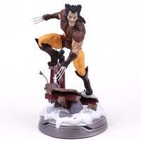 Marvel X Men Logan Statue PVC Figure Collectible Model Toy (can exchange haed) 23.5cm