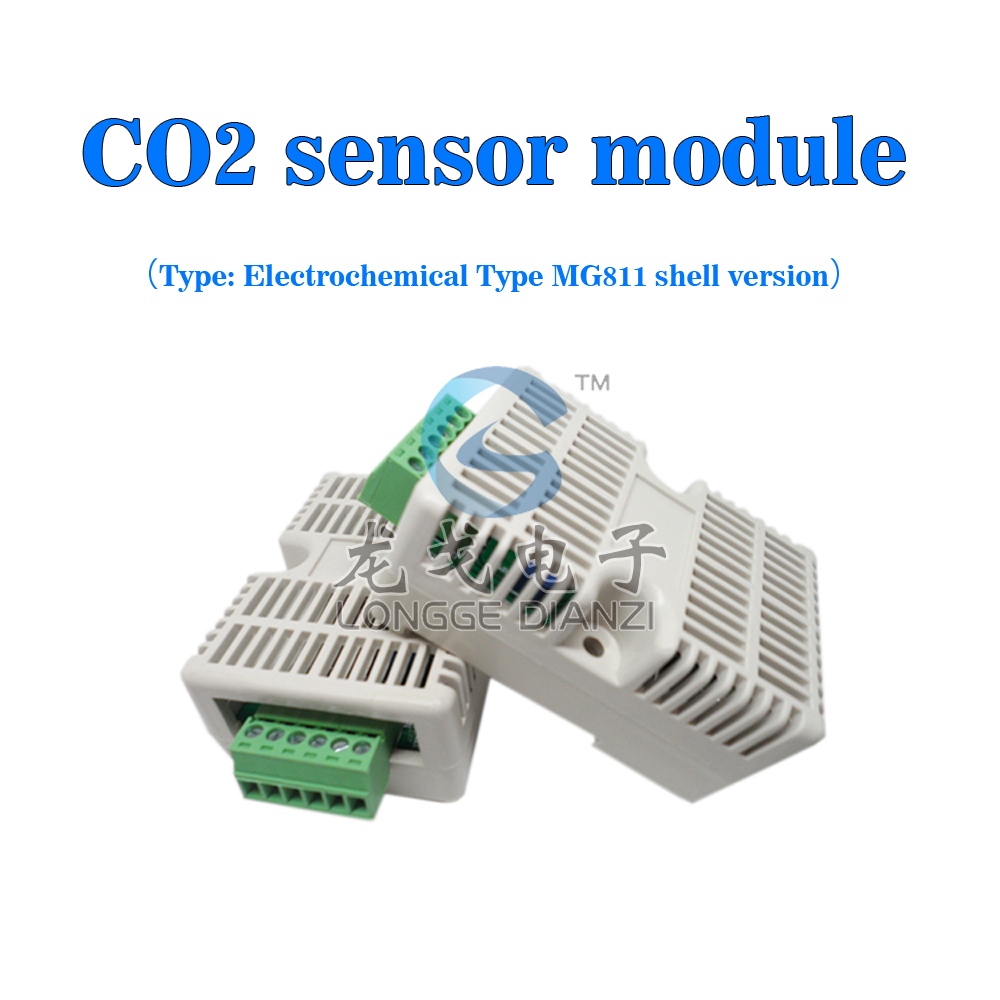 ФОТО 350-10000ppm with shell analog output voltage type CO2 carbon dioxide sensor module MG811