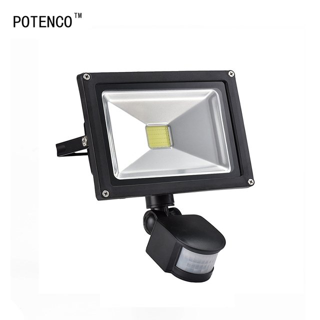 Potenco searchlight with motion sensor led flood light outdoor potenco searchlight with motion sensor led flood light outdoor lighting wall light waterproof reflector garden foco workwithnaturefo