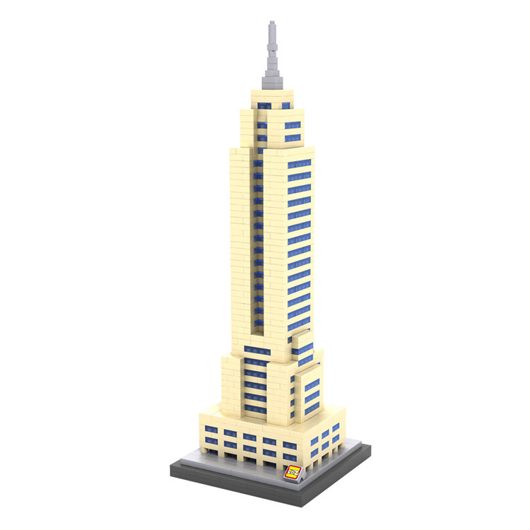 купить LOZ 9388 Empire State Building New York United States mini diamond block world famous architecture nanoblock educational toys недорого