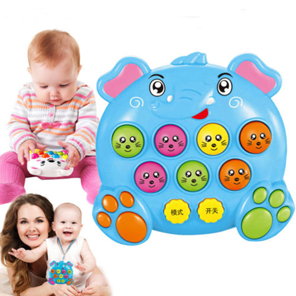 Baby Kids Plastic Music Toys Play Knock Hit Hamster Insect Game Playing Fruit Worm Educational instrumentos musicais(China)