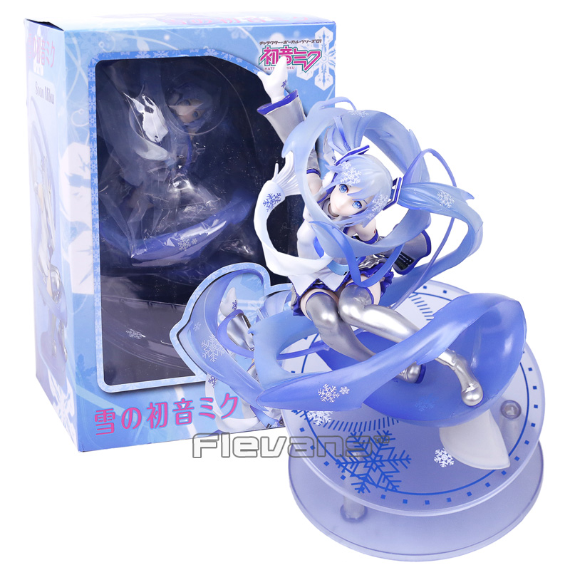 VOCALOID Hatsune Miku Snow Miku 15th Anniversary Ver. 1/7 Scale PVC Figure Collectible Model Toy 24.5cmVOCALOID Hatsune Miku Snow Miku 15th Anniversary Ver. 1/7 Scale PVC Figure Collectible Model Toy 24.5cm