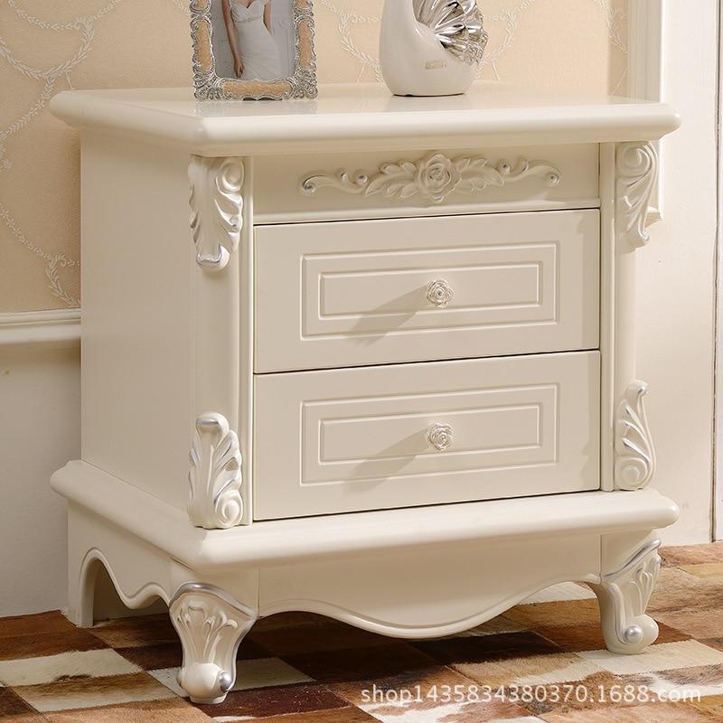 European Wood French Simple Bedside Bedside Locker In