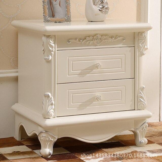 European wood French simple bedside bedside locker