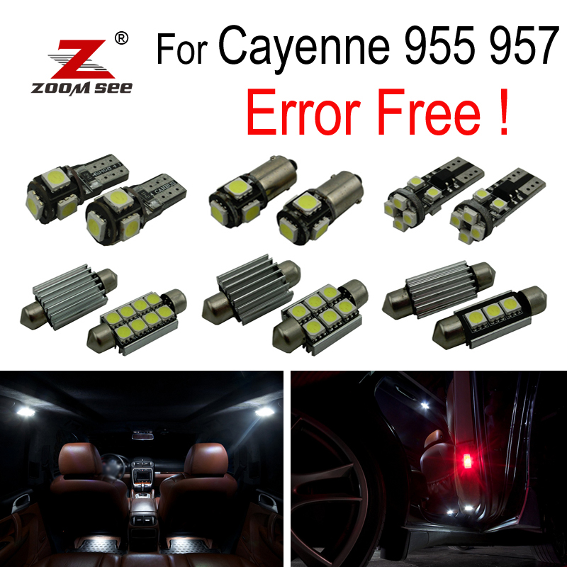 17pc X Error free For Porsche cayenne 955 957 LED Interior dome Lights bulb Kit Package (2003 2010)