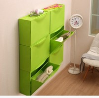 Modern Emotional Appeal Smart Storage Colorful Free Combination Assembly Shoes Cabinets Wall mounted Ultra thin Shoes Cabinets