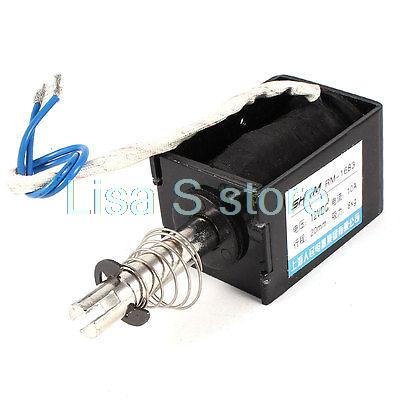 DC 12V Pull Type Sring Loaded Solenoid Electromagnet 20mm 8Kg RM-1683