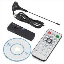 Ресивер-тюнер Realtek RTL2832U + R820T DVB-T, E4000, USB, DVB-T, оптовая продажа, ТВ-приставка, ТВ-антенна