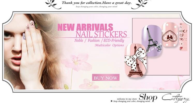 K nail sticker