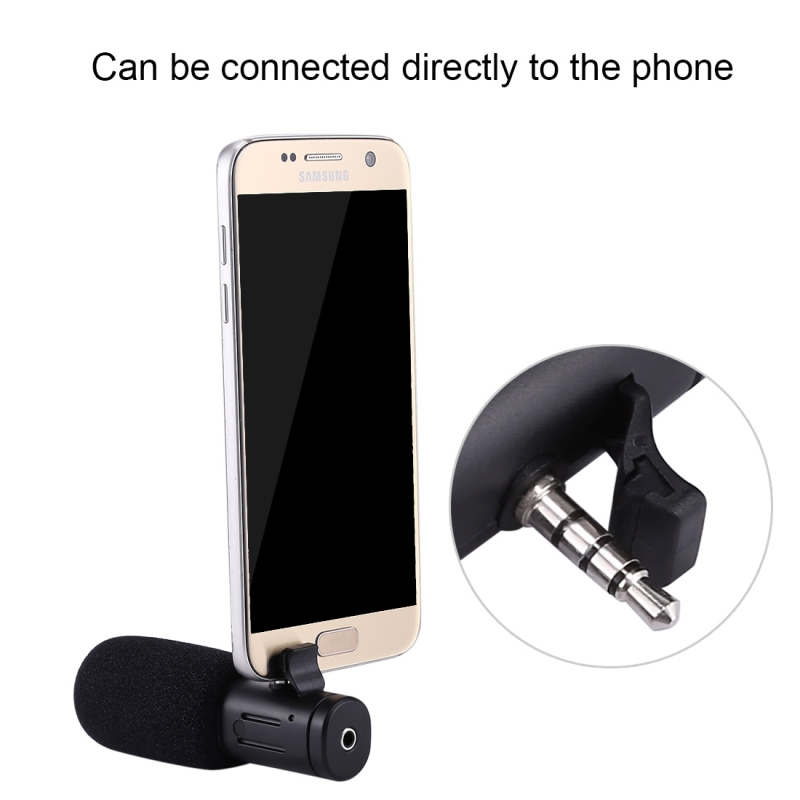 PULUZ Interview Microphone For Camcorder 3.5mm Audio Stereo Recoding Professional Microphone for Video Recording DSLR DV Camera