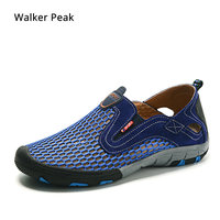 Brand Mesh Casual Shoes Men Breathable Loafers Men's Sneakers Shoes Male Walking Footwear Fashion Summer Big Size 45 Walkerpeak