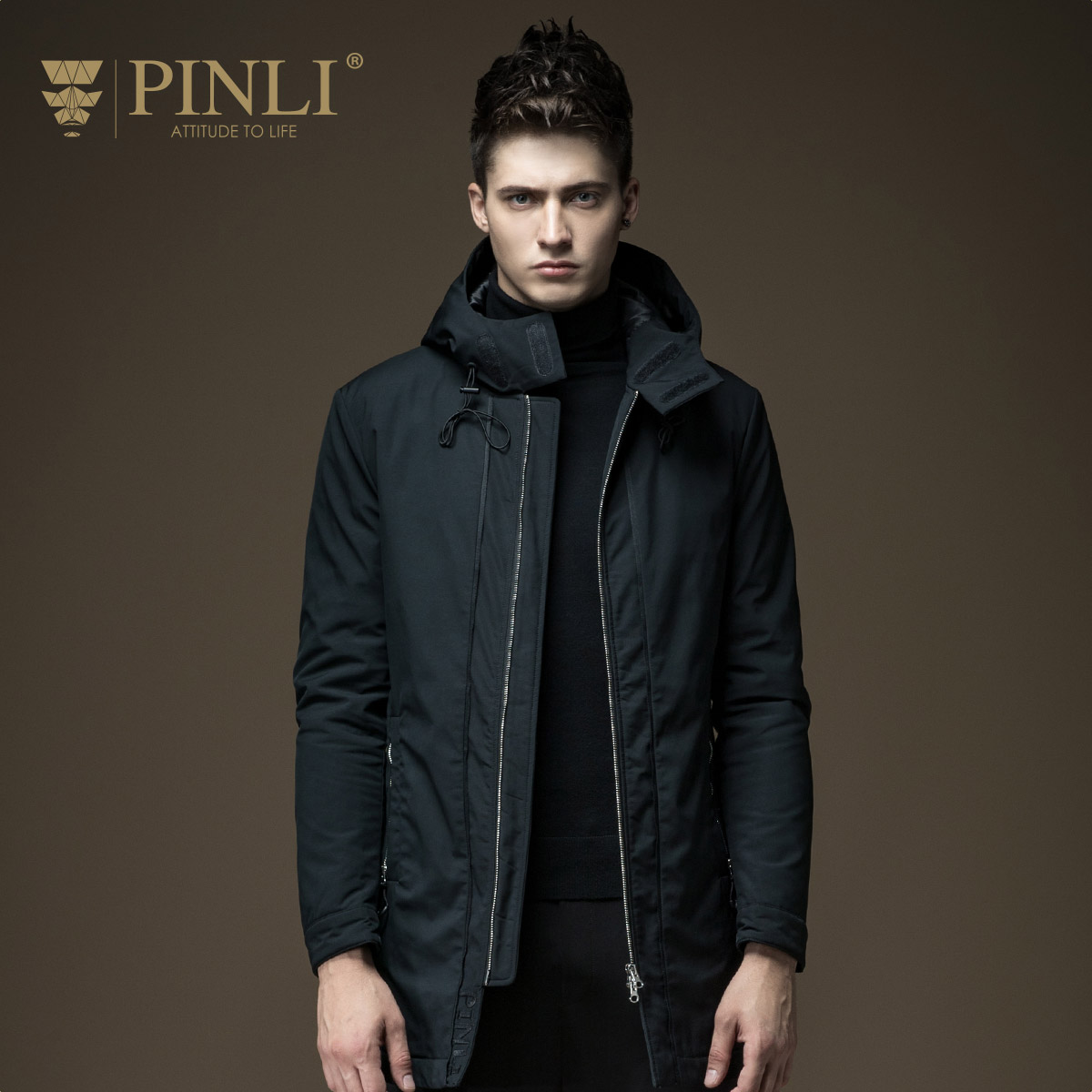 Winter Jackets Mens Mens Limited Pinli Autumn New Arrival Men's Clothing Zipper Color Wadded Jacket Outerwear Male D163605002