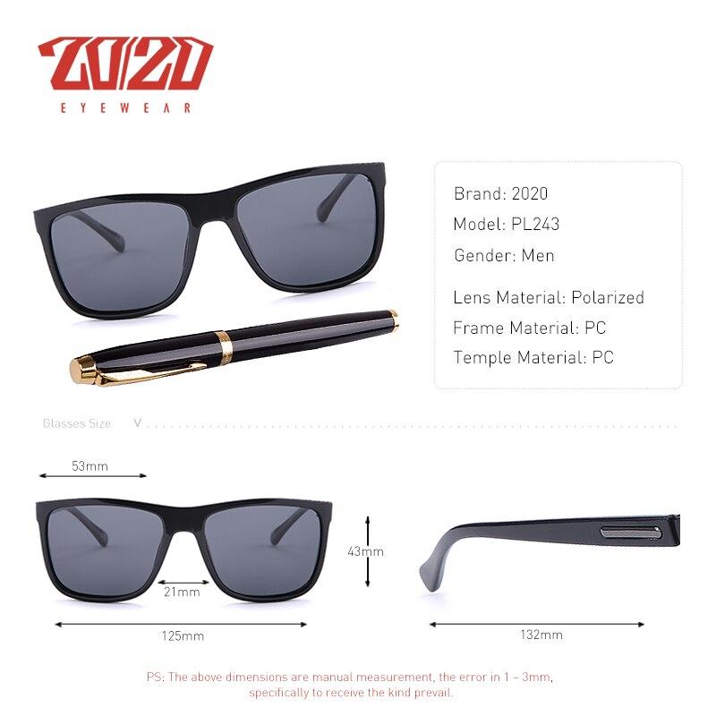 20/20 Marca Gafas de sol polarizadas Hombres UV400 Clásico Masculino - Accesorios para la ropa - foto 3