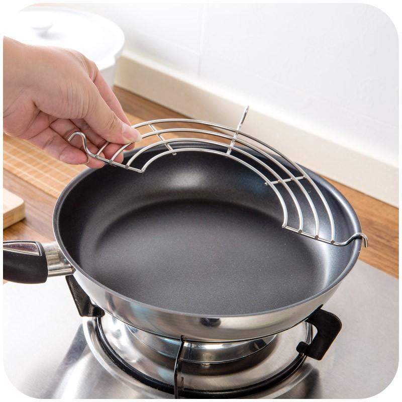 Semi-circulaire-acier inoxydable-huile-drain-grille-bol-vapeur-grille-friture-huile-goutte-à-goutte-cadre-isolation (4)