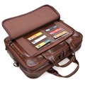 JMD Classic Messenger Bag Cartera del Negocio del Cuero Genuino de Los Hombres Bolso Del Ordenador Portátil Bolsa 7005Q