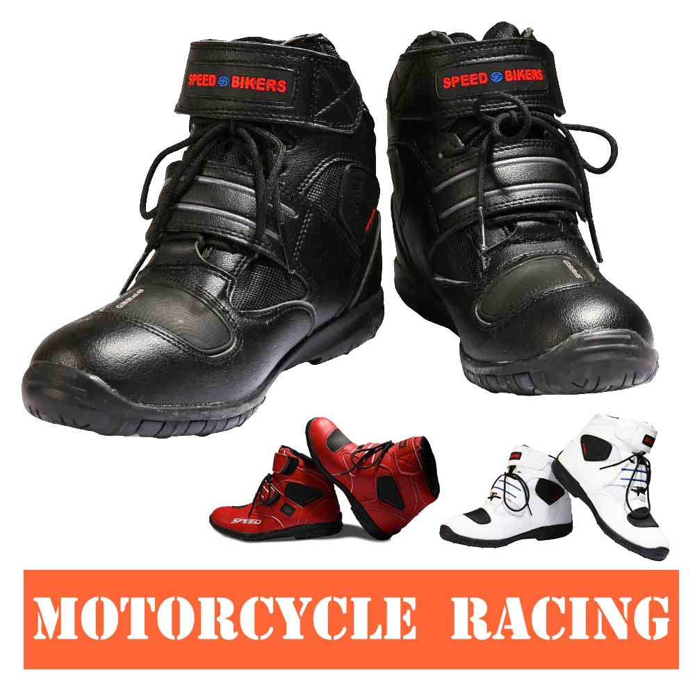 ФОТО Motorcycle Boots men and women Pro biker SPEED Moto Racing Motocross Motorbike Shoes A005 3 colors size 38/39/40/41/42/43/44/45