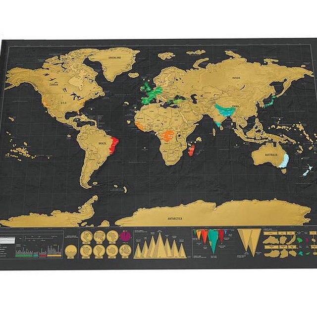 Nova Edição Deluxe Viagens Raspe Mapa Do Mundo Cartaz Jornal Personalizado Grande Mapa 82.5x59.4 cm