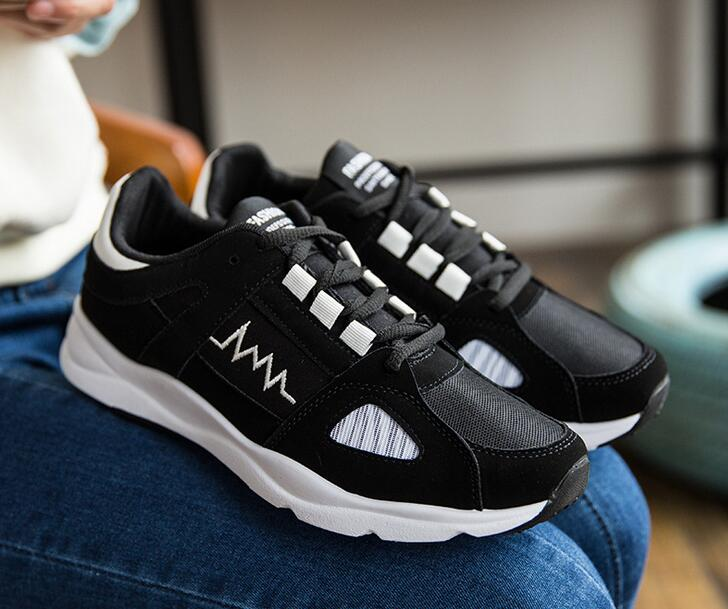 New listing hot sales Spring and Autumn Breathable men sports shoes cotton running shoes L002