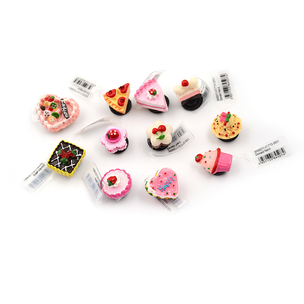 1pcs Lovely Cake Resin Shoe Buckle Elegant Shoe Charms Accessories Fit Bands Charms Shoe Buckles недорго, оригинальная цена