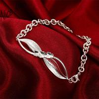 cute bangels H423 Free Shipping Latest Women Classy Design silver bracelet Factory Direct Sale 4