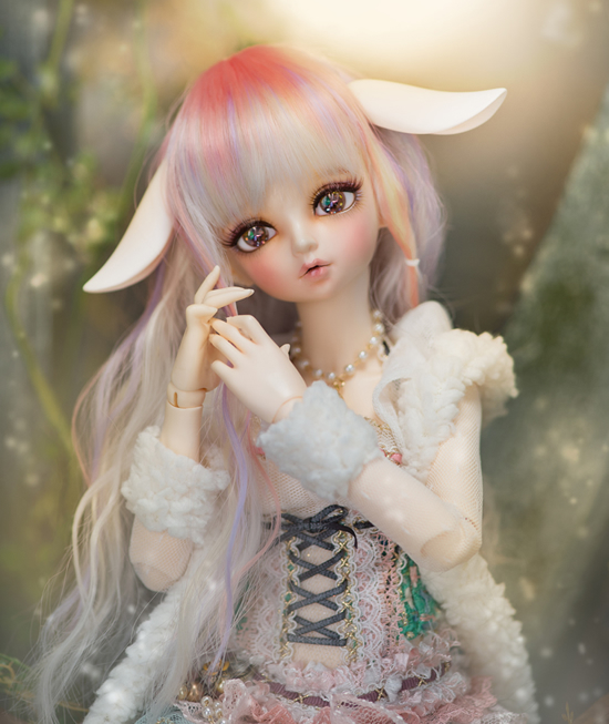 1/4 scale doll Nude BJD Recast BJD/SD Kid cute Girl Resin Doll Model Toys.not include clothes,shoes,wig and accessorie
