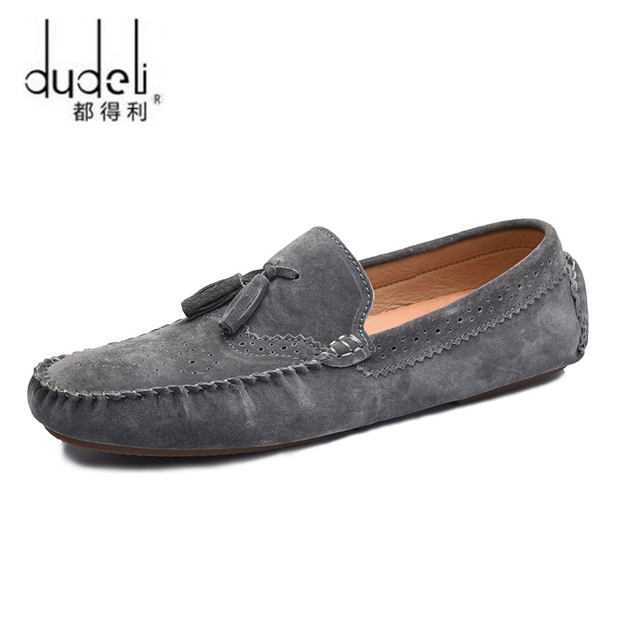 855dcf4f225a DUDELI Designer Suede Leather Men Casual Shoes High Quality Soft Mens  Loafers Moccasins Italian Fashion Driving Shoes Luxury