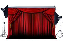Red Curtain Backdrop for Photography School Show Interior Theatre Decoration Wallpaper Hollywood Background