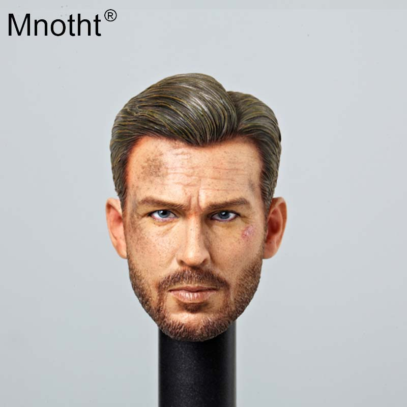 Mnotht 1/6 soldier accessory Head Sculpt US Captain -COD Male Head Carved VA02 version beard toy for 12'' doll action figure ma 1 6 female head for 12 action figure doll accessories marvel s the avengers agents of s h i e l d maria hill doll head sculpt