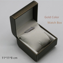 Top Quanlity Gold Leather Watch Boxes Leather Material Luxury Brand Watch Storage Box Square Shape Watch Gift Case A068