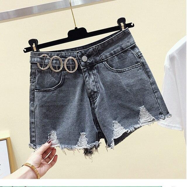 6a01a17cdea0a JUJULAND Vintage taille haute Denim Shorts femmes 2019 Style coréen  décontracté Shorts Jeans été chaud pantalons courts femmes 1170