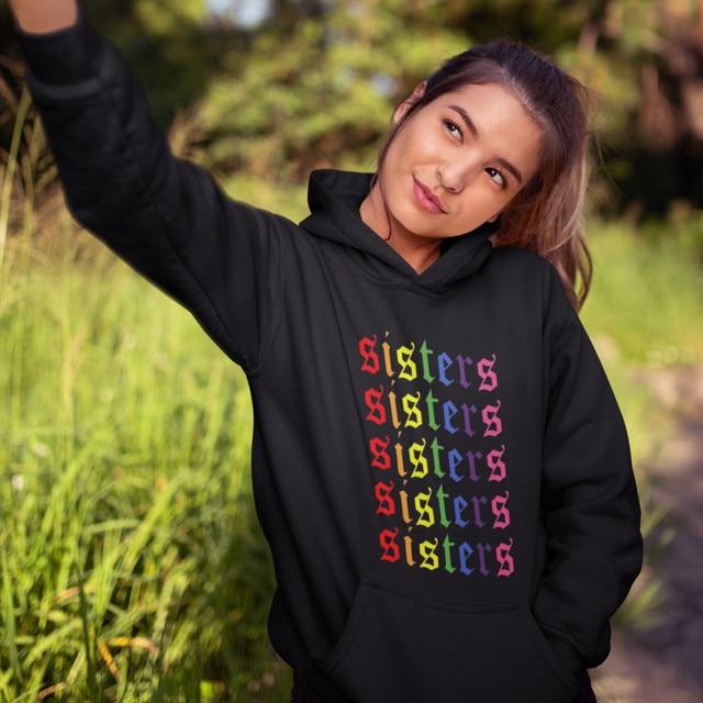 Influencer Hoodie James Charles Sisters Artistry Logo Repeating Hoodies Graphic Sexy Hoodies Women Blue Pullover Hoodie